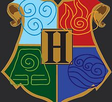 Avatar Element Hogwarts Shield by ZWinchester