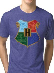 Avatar Element Hogwarts Shield Tri-blend T-Shirt
