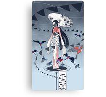 Kimono Birds Canvas Print