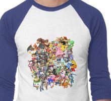 Super Smash Bros characters Men's Baseball ¾ T-Shirt