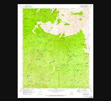 USGS TOPO Map Arizona AZ Crown King 311030 1969 24000 Unisex T-Shirt
