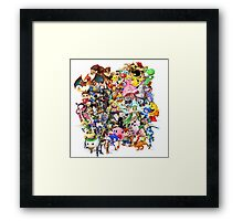 Super Smash Bros characters Framed Print