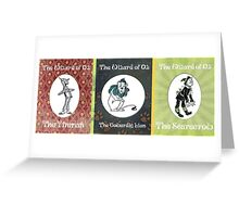 Wizard of Oz Tinman Cowardly Lion Scarecrow Greeting Card