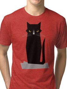 BLUE (If I Fits, I Sits) Tri-blend T-Shirt