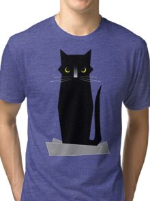 BLUE (If I Fits, I Sits) Tri-blend T-Shirt