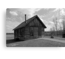 Chippewa Nature Center - Homestead Farm Log Schoolhouse Canvas Print
