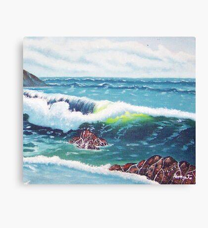 Oregon Seascape 84 oil painting  Canvas Print