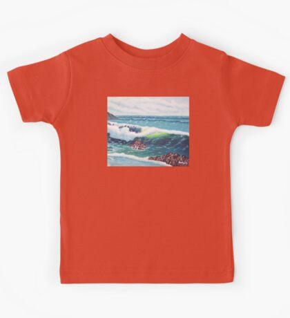 Oregon Seascape 84 oil painting  Kids Tee