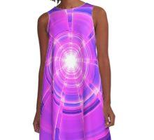 Purple Scope A-Line Dress