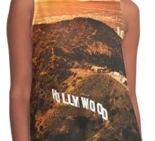 hollywood sign Contrast Tank