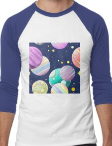 Galaxy Men's Baseball ¾ T-Shirt