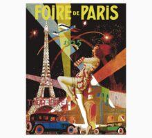 """PARIS"" Vintage Bastille Day Advertising Print Kids Tee"