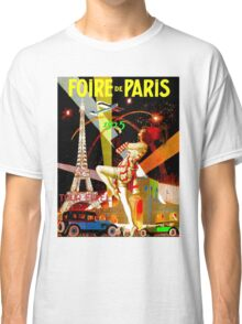 """PARIS"" Vintage Bastille Day Advertising Print Classic T-Shirt"
