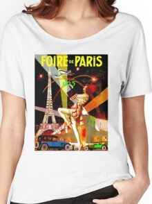 """PARIS"" Vintage Bastille Day Advertising Print Women's Relaxed Fit T-Shirt"