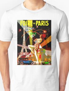 """PARIS"" Vintage Bastille Day Advertising Print Unisex T-Shirt"