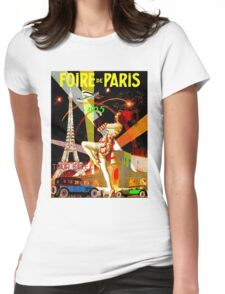 """PARIS"" Vintage Bastille Day Advertising Print Womens Fitted T-Shirt"