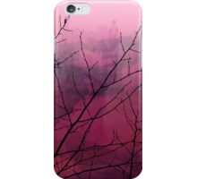 Plum Watercolor & Black Branches iPhone Case/Skin