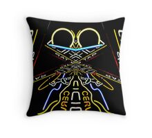 neon frog Throw Pillow