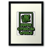 Super Cthulhu World Framed Print