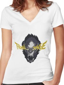 Primal Rage Women's Fitted V-Neck T-Shirt