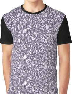Violet seamless pattern with hand drawn floral elements Graphic T-Shirt