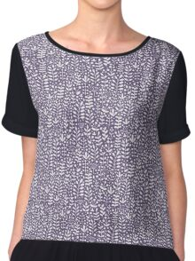 Violet seamless pattern with hand drawn floral elements Chiffon Top