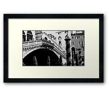 under the rialto Framed Print