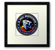 """The NASA """"In Space Manufacturing"""" Logo Framed Print"""