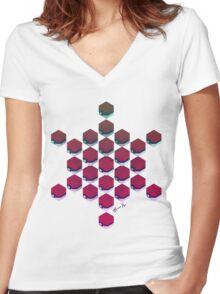 Balls Women's Fitted V-Neck T-Shirt