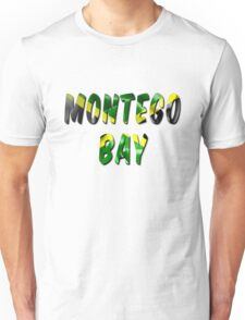 Montego Bay Word With Flag Texture Unisex T-Shirt