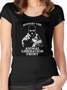 """Support the Animal Liberation Front"" Women's Fitted Scoop T-Shirt"