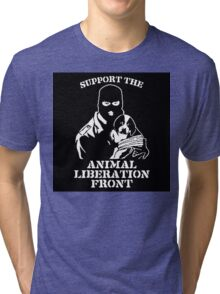 """""""Support the Animal Liberation Front"""" Tri-blend T-Shirt"""