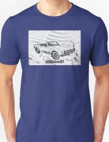 1967 Convertible Red Camaro Illustration T-Shirt