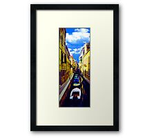 venetian waterline Framed Print