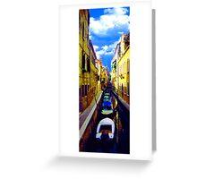 venetian waterline Greeting Card