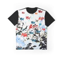 Flying little Flowers Graphic T-Shirt