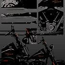 harley davidson collage by tinncity