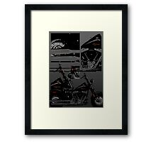 harley davidson collage Framed Print