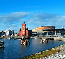 Cardiff Bay  old and new by Joyce Knorz