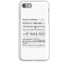 Olicity Quotes iPhone Case/Skin