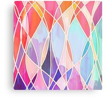 Purple & Peach Love - abstract painting in rainbow pastels Canvas Print