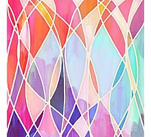 Purple & Peach Love - abstract painting in rainbow pastels Photographic Print