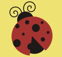 Ladybug (Ladybird, Lady Beetle) with Dots - Red One Piece - Short Sleeve