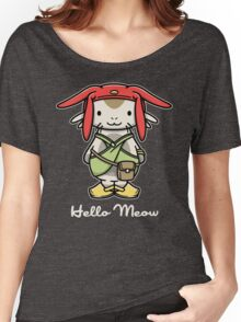 'ello Meow Women's Relaxed Fit T-Shirt