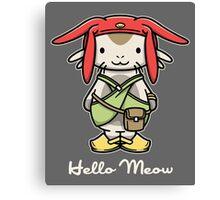 'ello Meow Canvas Print