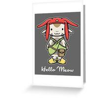 'ello Meow Greeting Card