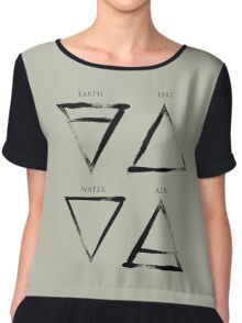 Elements Symbols - Black Edition Chiffon Top