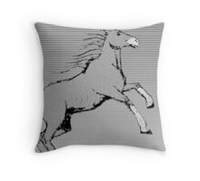 horse lines Throw Pillow