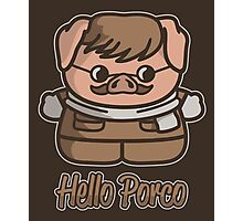 Hello Porco Photographic Print