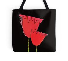 I love red tulips Tote Bag